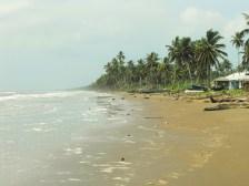 The Caribbean coastline
