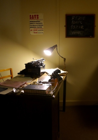 One of the recreated offices