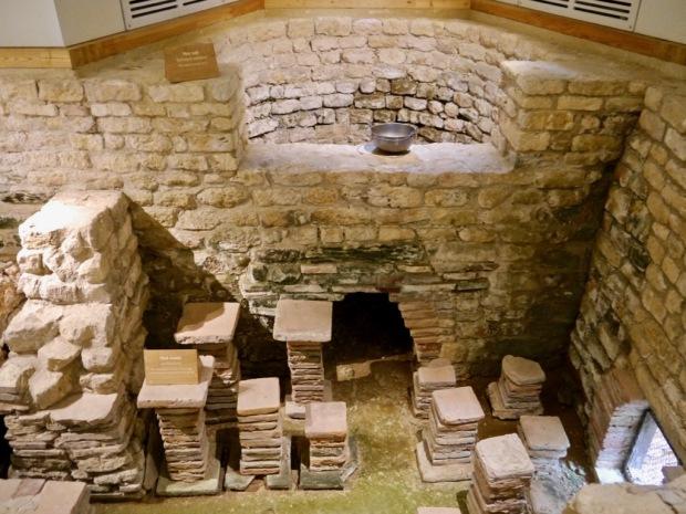 Inside Chedworth Roman Villa - the old baths