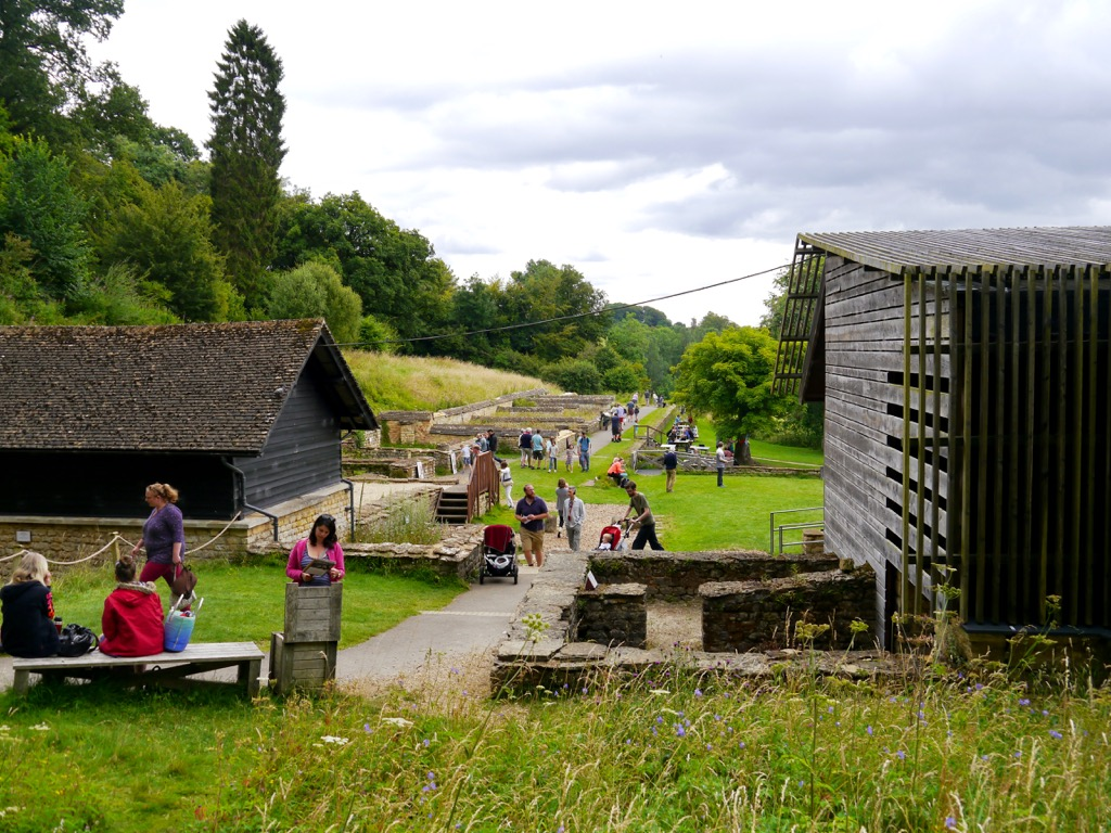 The grounds of Chedworth Roman Villa