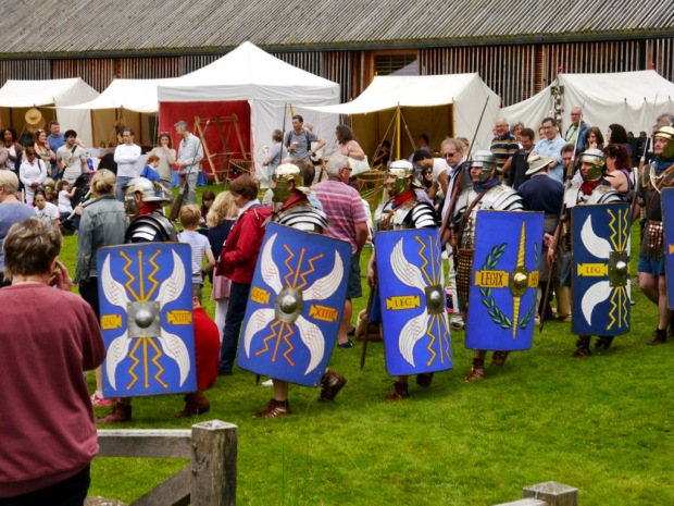 The Romans are Coming event at Chedworth Roman Villa, run by the Roman Military Research Society