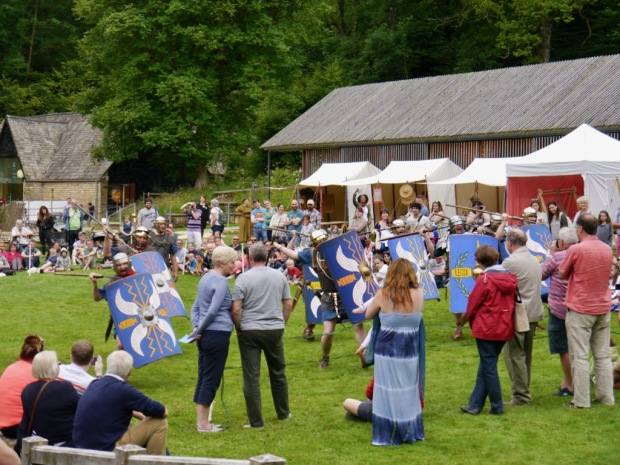 Romans are Coming event at Chedworth Roman Villa, run by the Roman Military Research Society