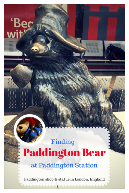 Finding Paddington Bear at Paddington Station: Paddington shop & statue in London, England