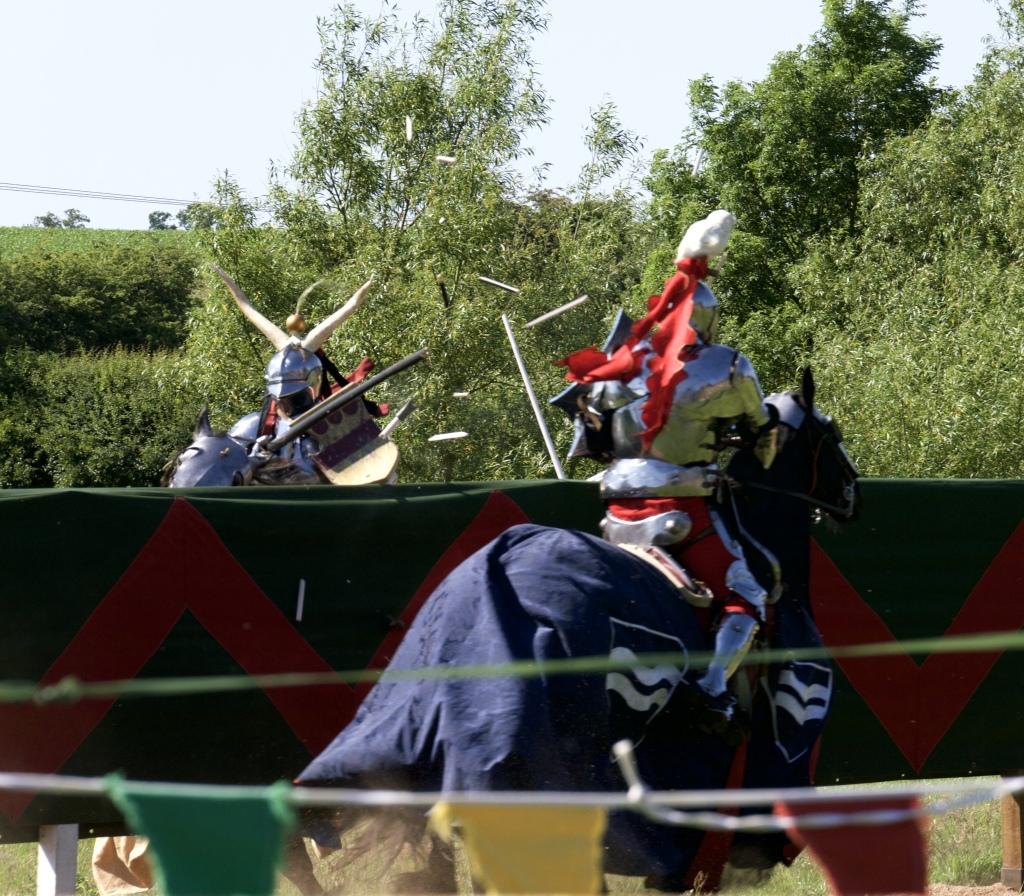 Kenilworth castle joust lances smashing