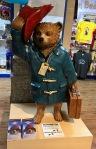 Paddington Bear statue from the 2014 film in Paddington shop