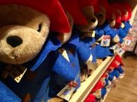 Paddington Bear toys for sale in Paddington shop