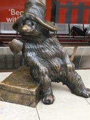 Bronze Paddington statue on Platform 1