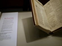 Shakespeare exhibition first folio of works