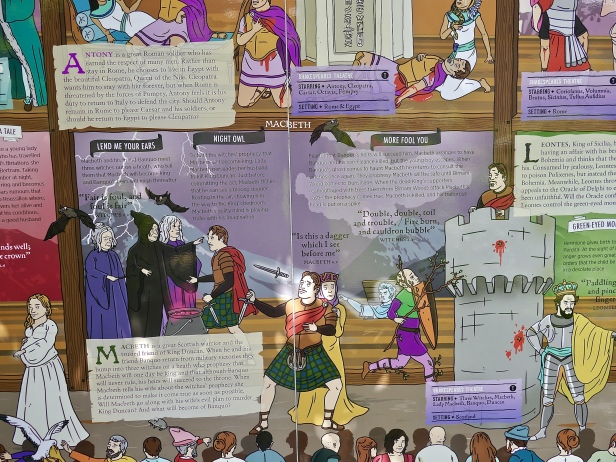 Shakespeare plays comic strip