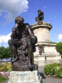 Hamlet statue in Shakespeare's hometown