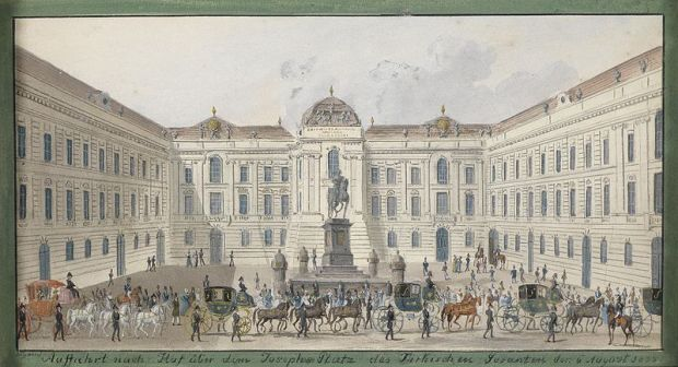 Austrian National Library in 1835