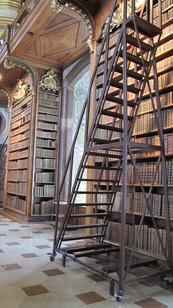 Bookworm heaven - visit the Austrian National Library to find books stacked to the ceiling and wheeled ladders