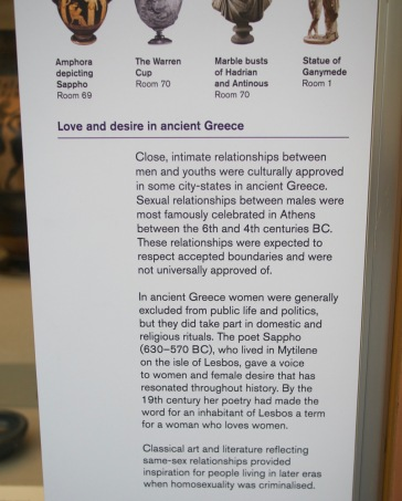 LGBT history in Ancient Greece at the British Museum's desire love identity exhibit
