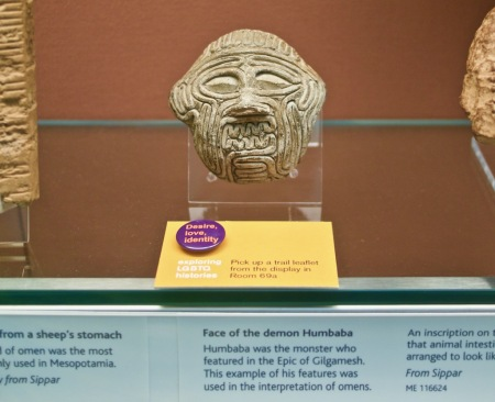 Image of the demon Humbaba from the Epic of Gilgamesh. Part of the British Museum's Desire, love, identity trail
