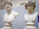 Busts of Hadrian and Antinous at the British Museum's desire love identity exhibit