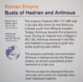 Hadrian & his lover Antinous at the British Museum's desire love identity exhibit