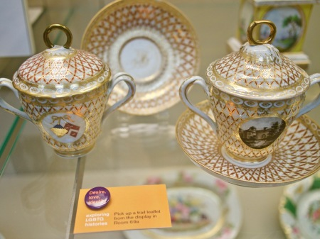 Chocolate cups belonging to the Ladies of Llangollen, part of the Desire love identity trail at the British Museum