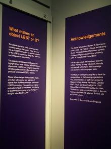 Display panels at the British Museum's desire love identity exhibit