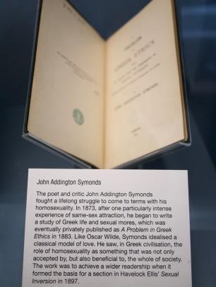 John Addington Symonds at the Gay UK exhibit at the British Library