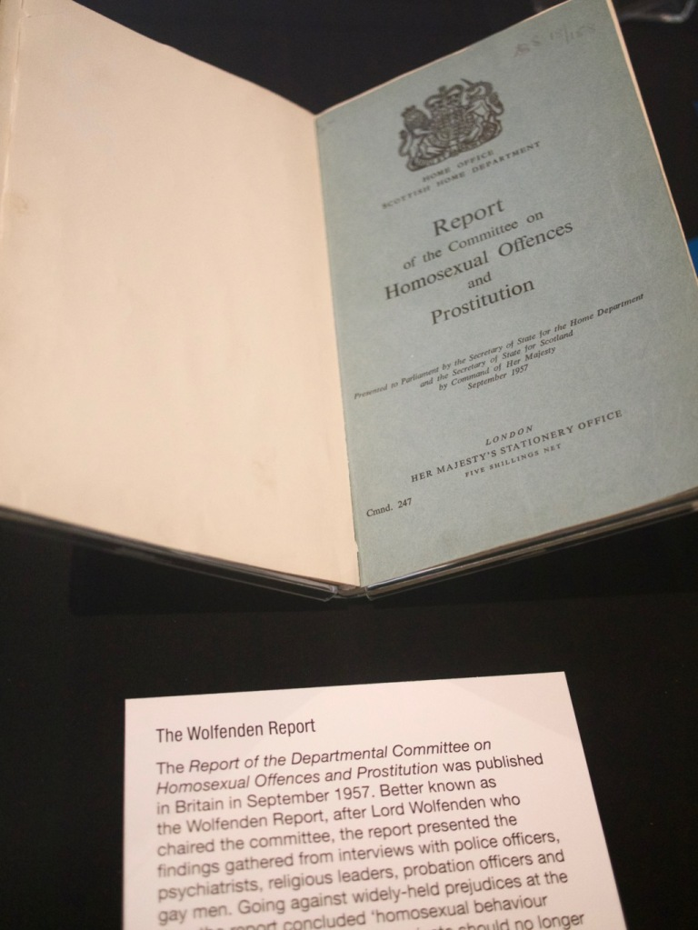 Wolfenden Report at the Gay UK exhibit in the British Library