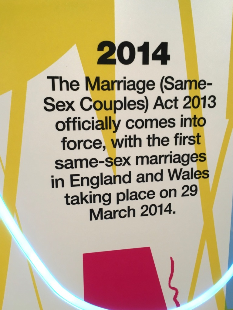 2014 first same sex marriages, featured in the In Visible Ink exhibition at the National Theatre