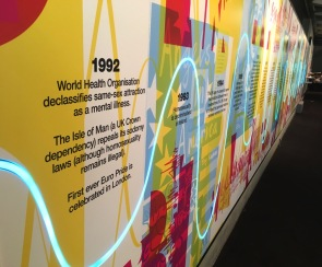 Start of the wall in 1992 at the In Visible Ink exhibition at the National Theatre