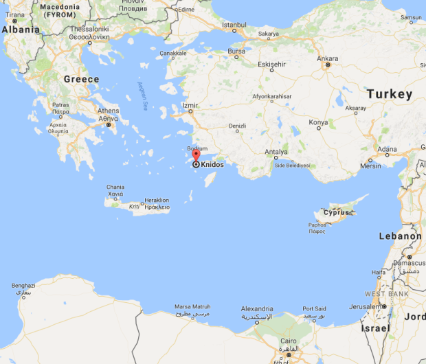 Location of Knidos, Datça in Turkey