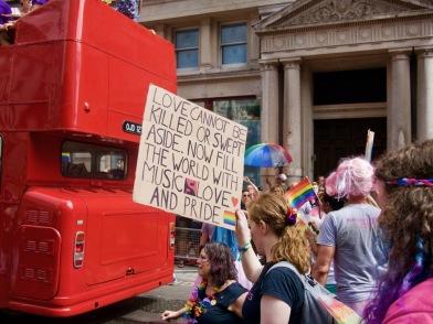 Lin Manuel Miranda speech sign at Pride in London