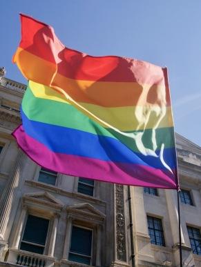 Rainbow flag at Pride in London