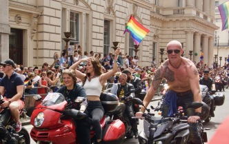 Motorbikes at Pride in London