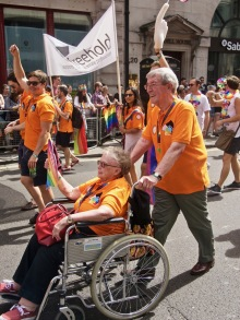 Marchers at Pride in London