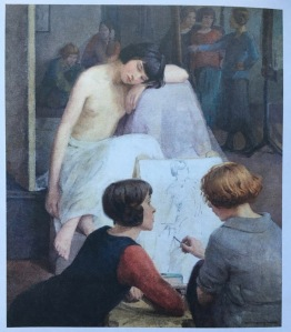 Dorothy Johnstone self portrait in the Queer British Art exhibition at Tate Britain