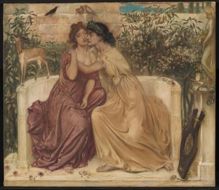 Sappho painting by Simeon Solomon, featured in the Queer British Art exhibition at the Tate Britain