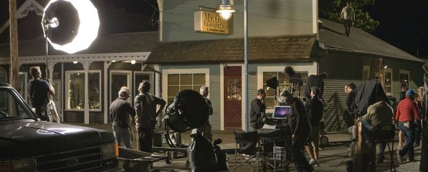 Night filming of Steveston as Storybrooke in Once Upon A Time